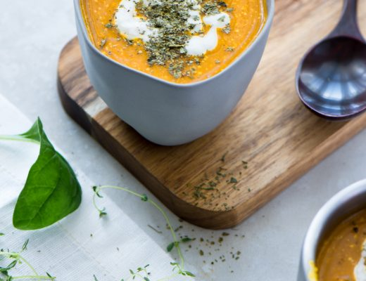 A rich and deliciously pumpkin soup recipe - pop a dollop of cashew cream on top for the perfect finish! A perfect treat for winter.