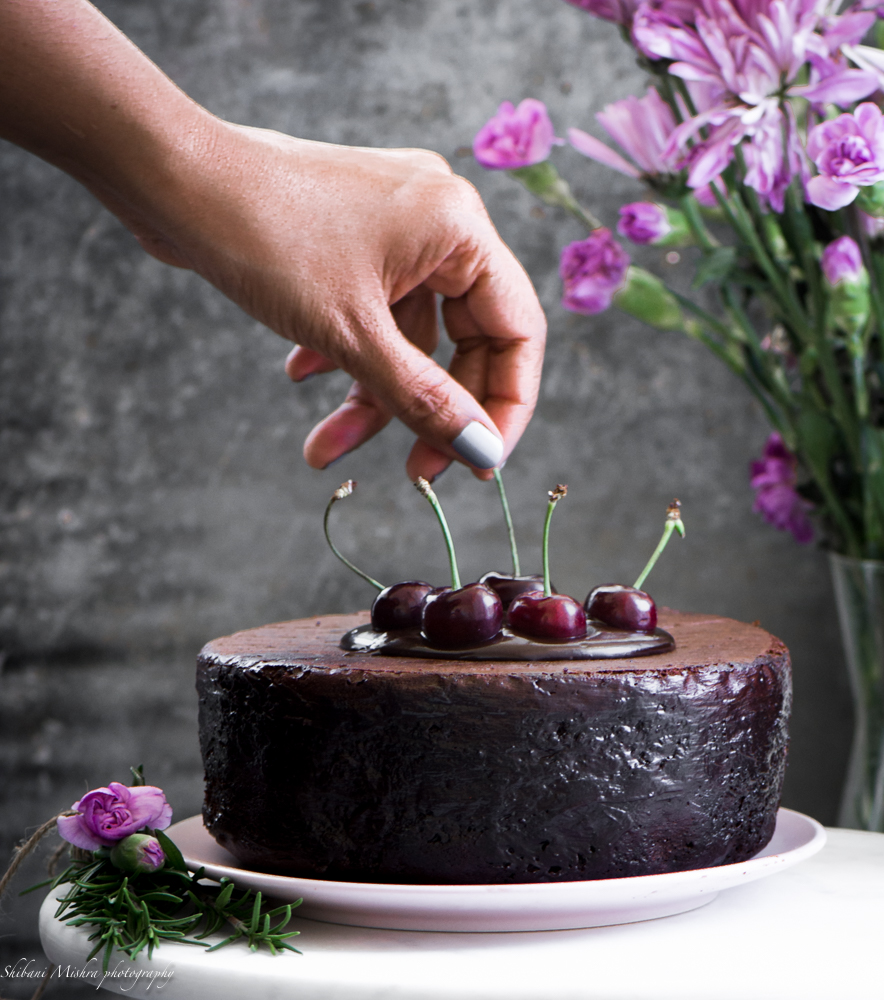 My favourite chocolate cherry cake