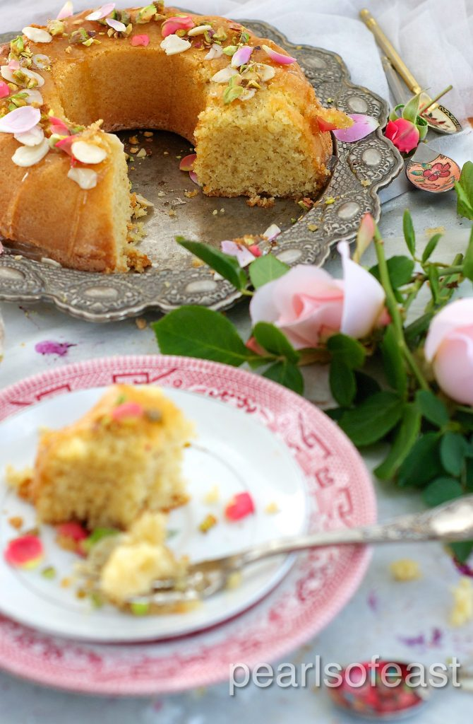 Almond and rose cake-1