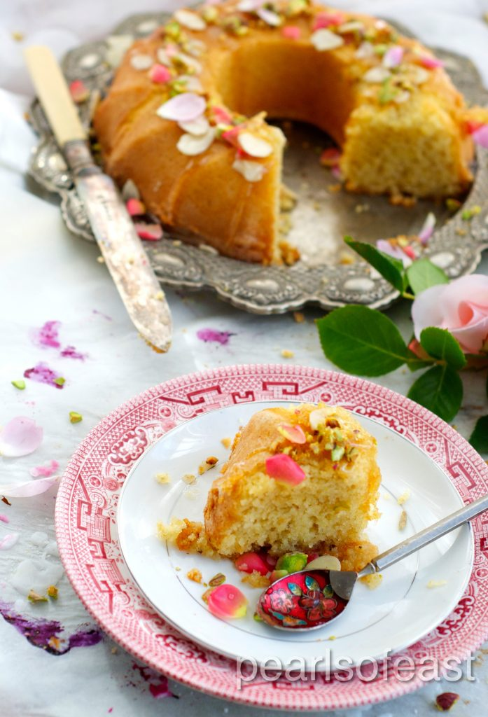 Almond and rose cake-2