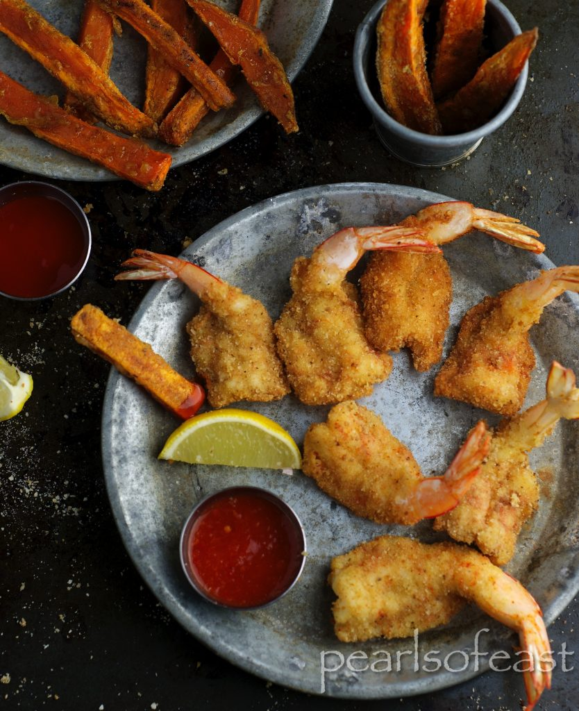 if you drive down to the coast and fisherman's basket is your choice of tucker, then Prawn cutlets and with of Sweet potato fries is here to go.
