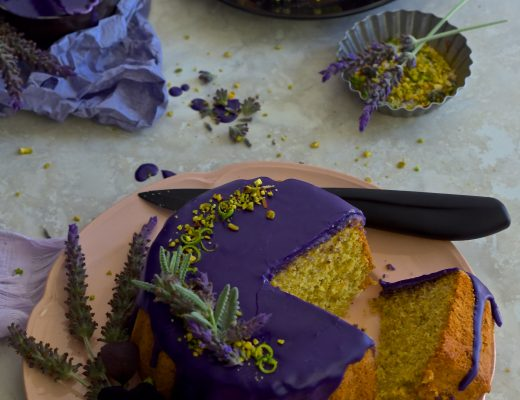 pistachios and lavender sugar cake