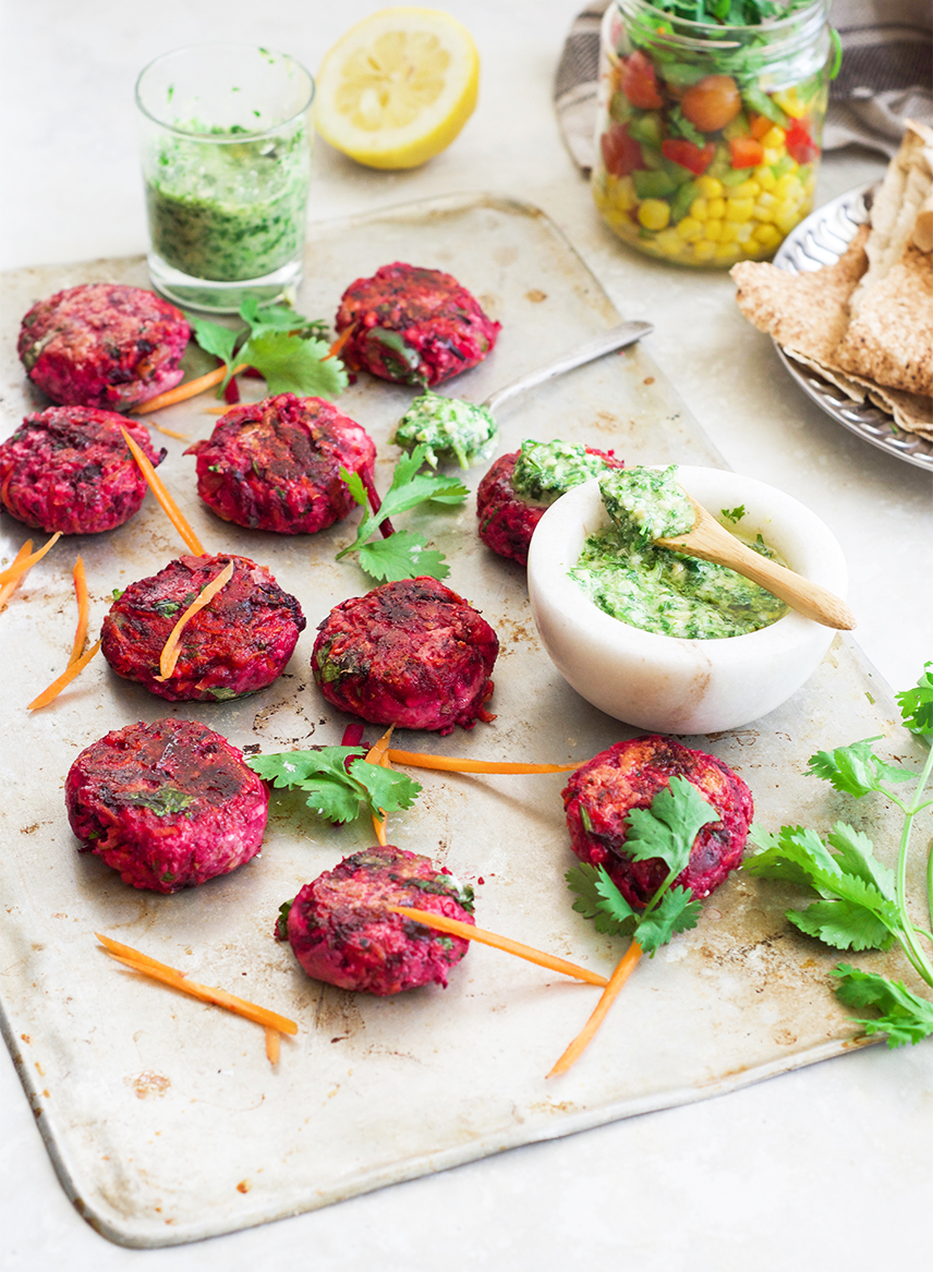 beetroot and ricotta patties