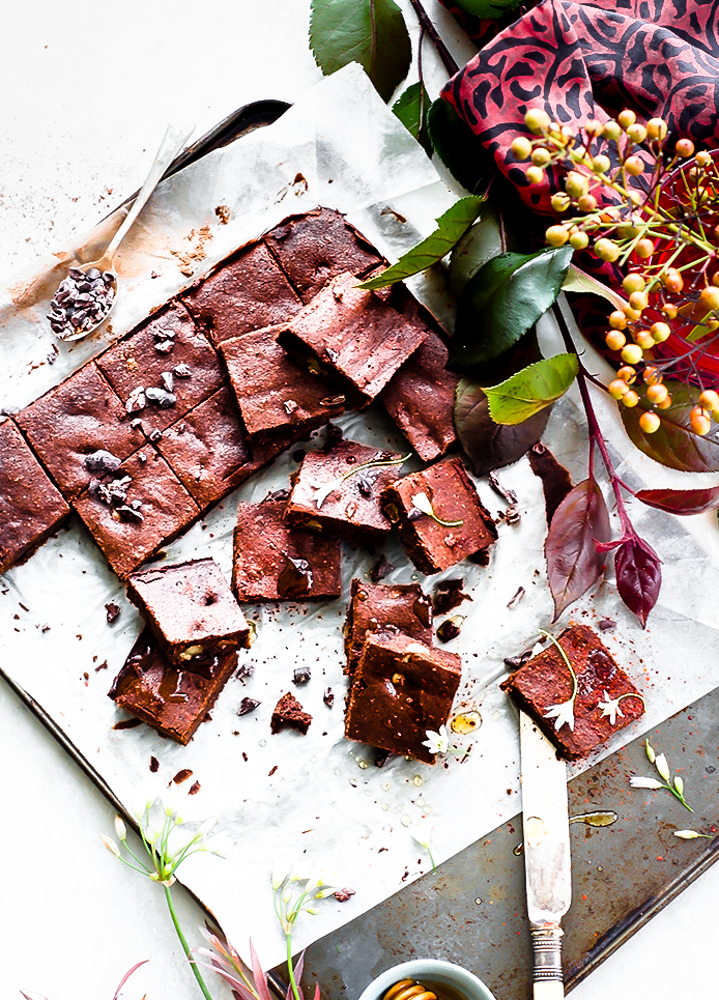 A delicious, healthy and flourless cacao brownies that melts in your mouth and gives you a tingling sensation with a hint of chilli