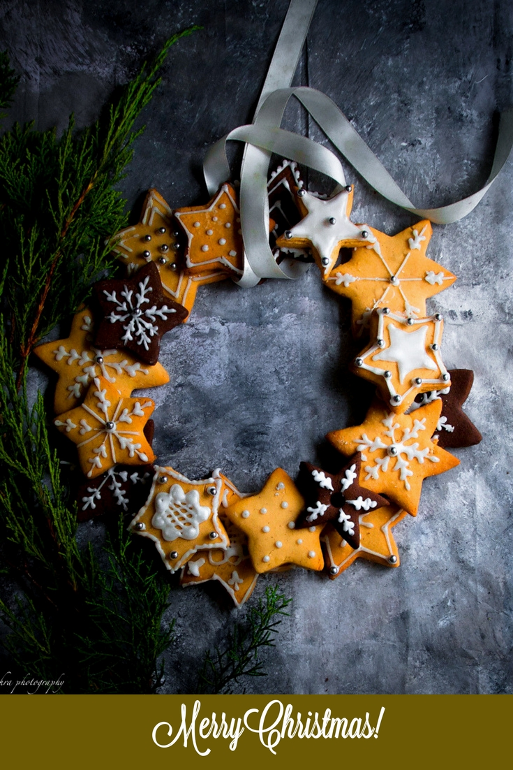 Baking few batches of gingerbread cookies and then arranging them into a spectacular gingerbread wreath is a great way  to celebrate the festive season.