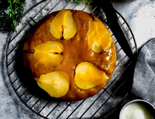 Caramelised Pear Upside Down Cake