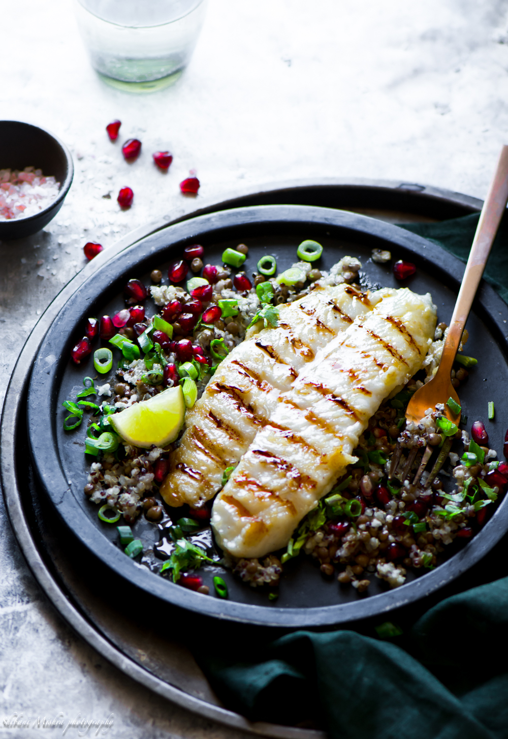grilled fish with barley salad-4