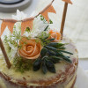 lychee  naked cake with mascaporne butter cream frosting