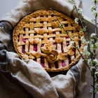 Strawberry rhubarb Lattice pie