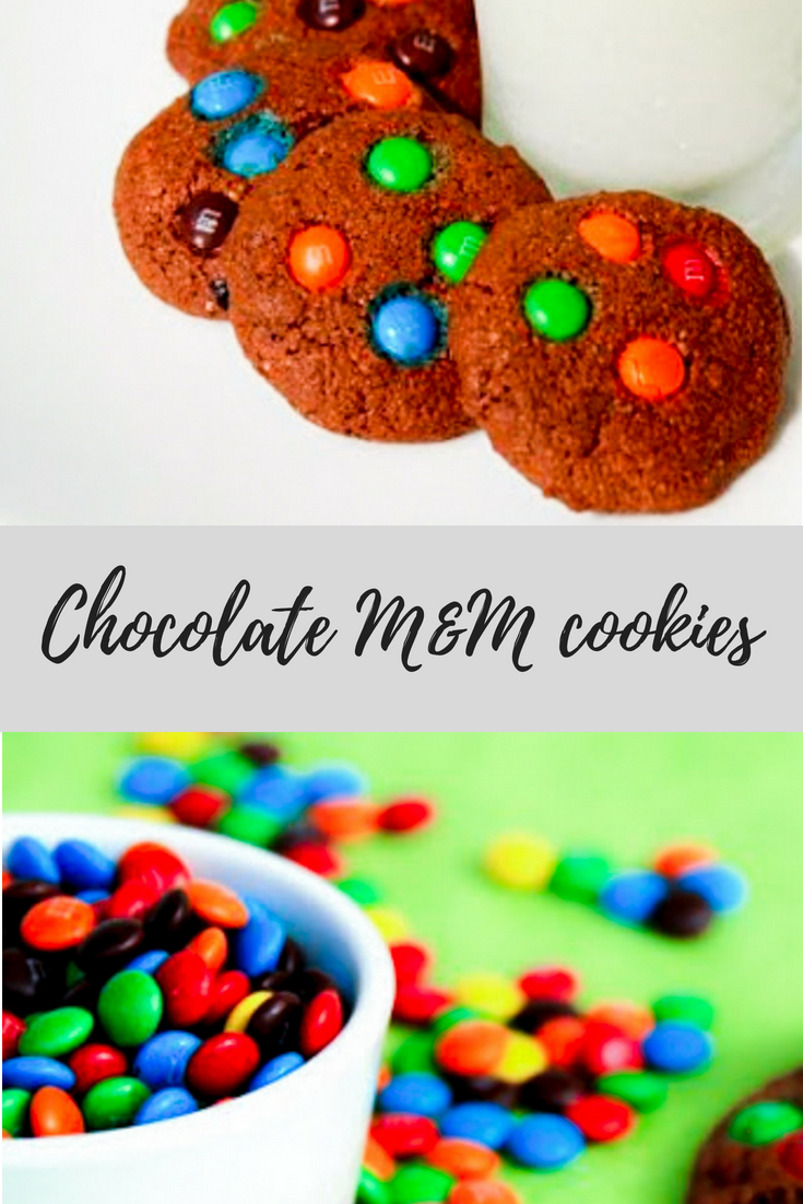 This chocolate M&M Cookies are nutritious that so couple of cookies munched with a glass of milk is enough to keep him rocking.