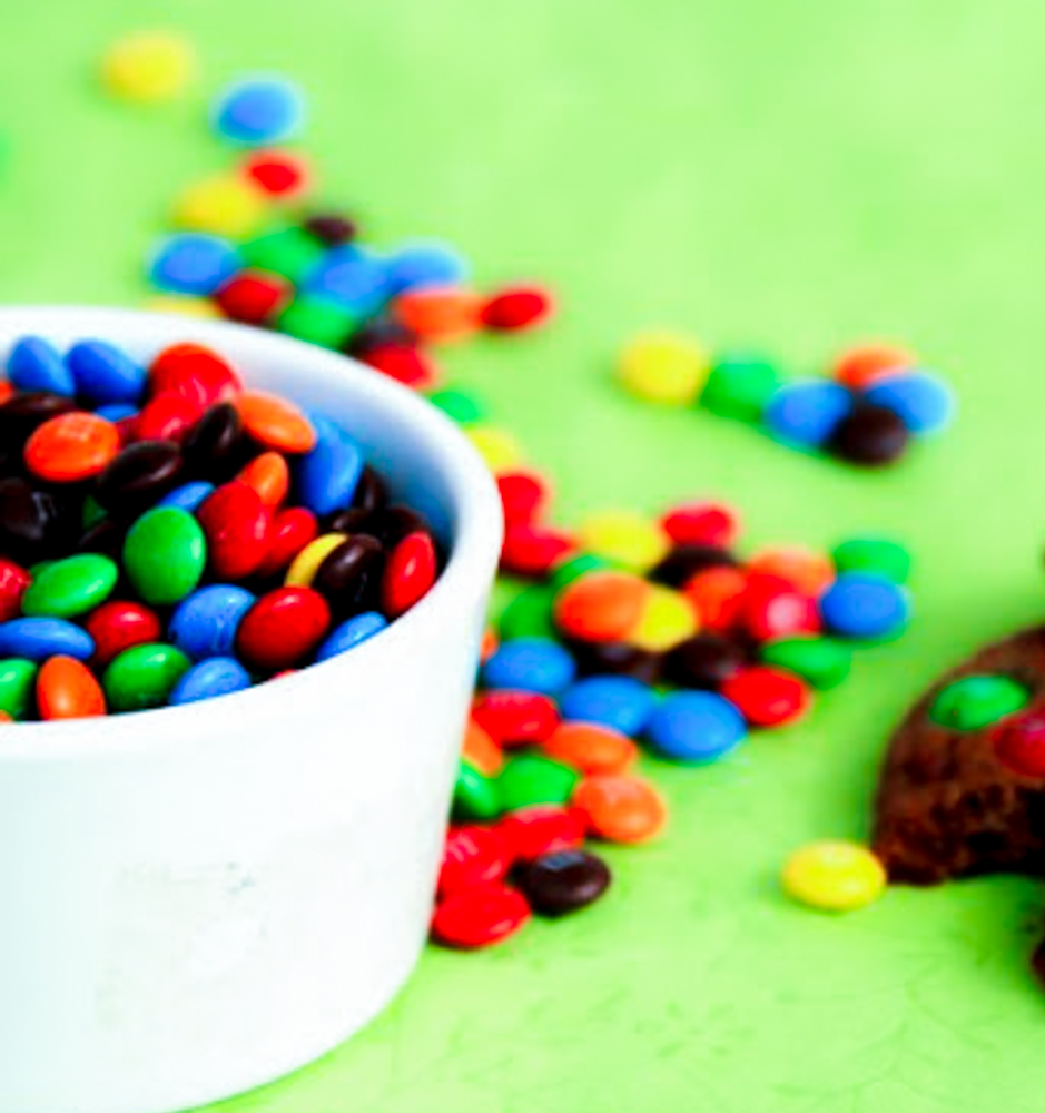 This M&M Chocolate Cookies are nutritious that so couple of cookies munched with a glass of milk is enough to keep him rocking.