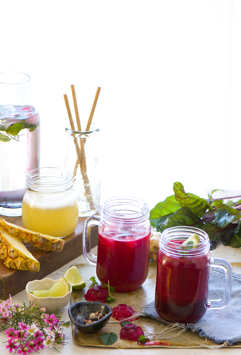 Drinking a blend of beetroot pineapple juice fresh with twist of ginger is a simple and effective way to help cleanse your liver and detox.