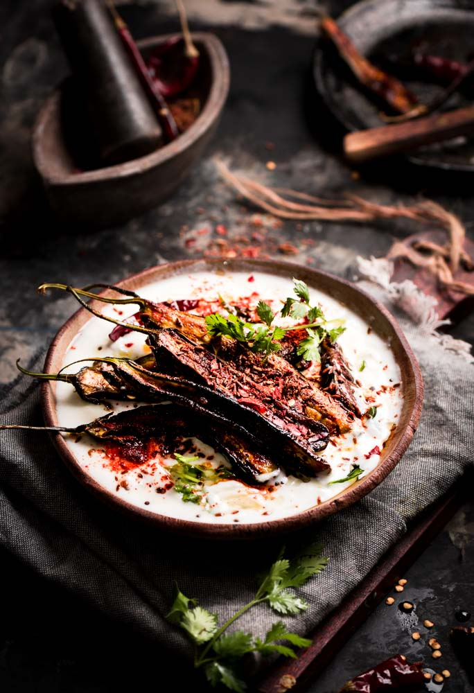 dahi baigana is an odia dish basically spiced eggplant in yogurt sauce. It is a very cool dish and common to the Odia kitchen.