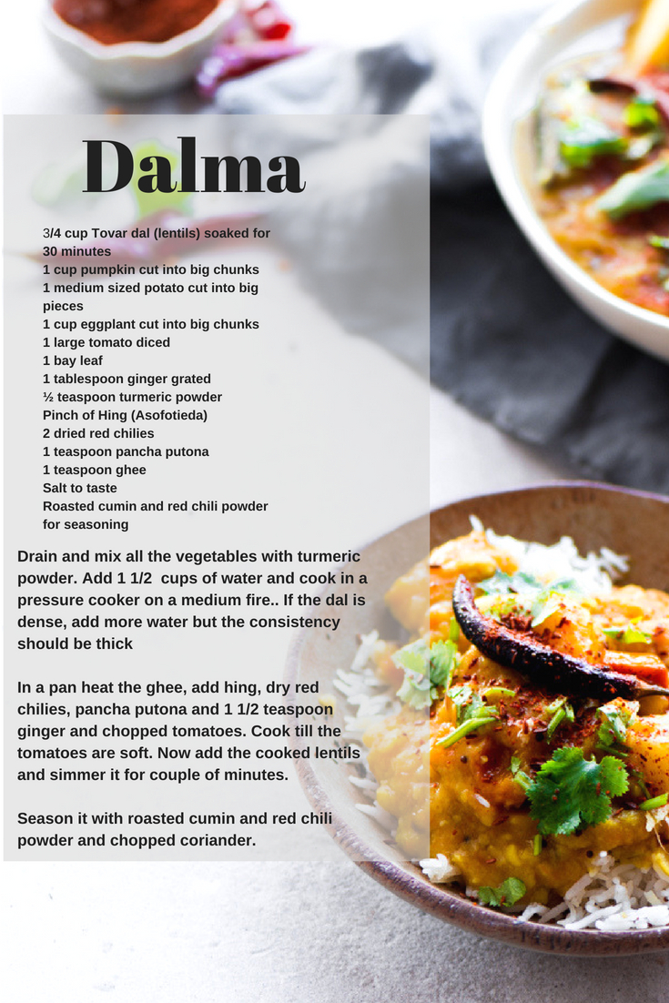 A comfort and staple food of Odisha, the mere mention of Dalma will take you down the memory lane. Absolutely easy and fuss free.