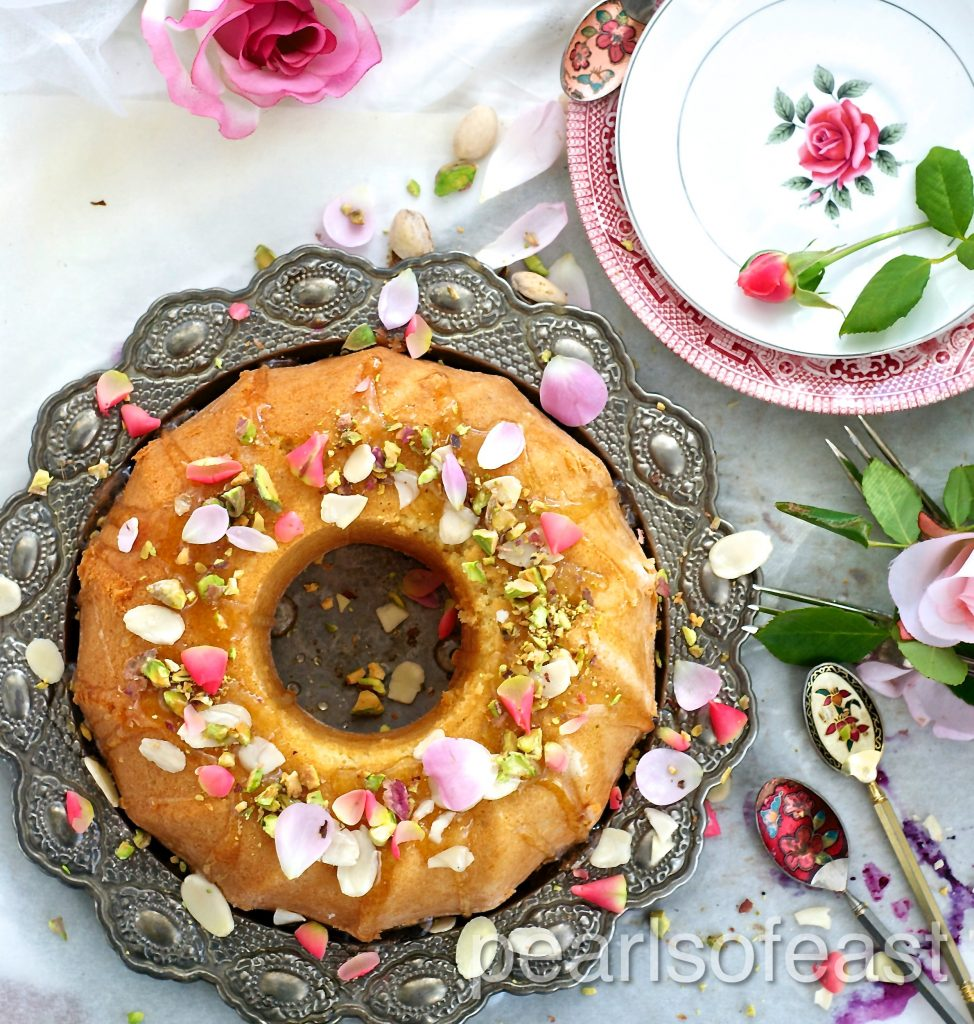 Almond and rose cake-4