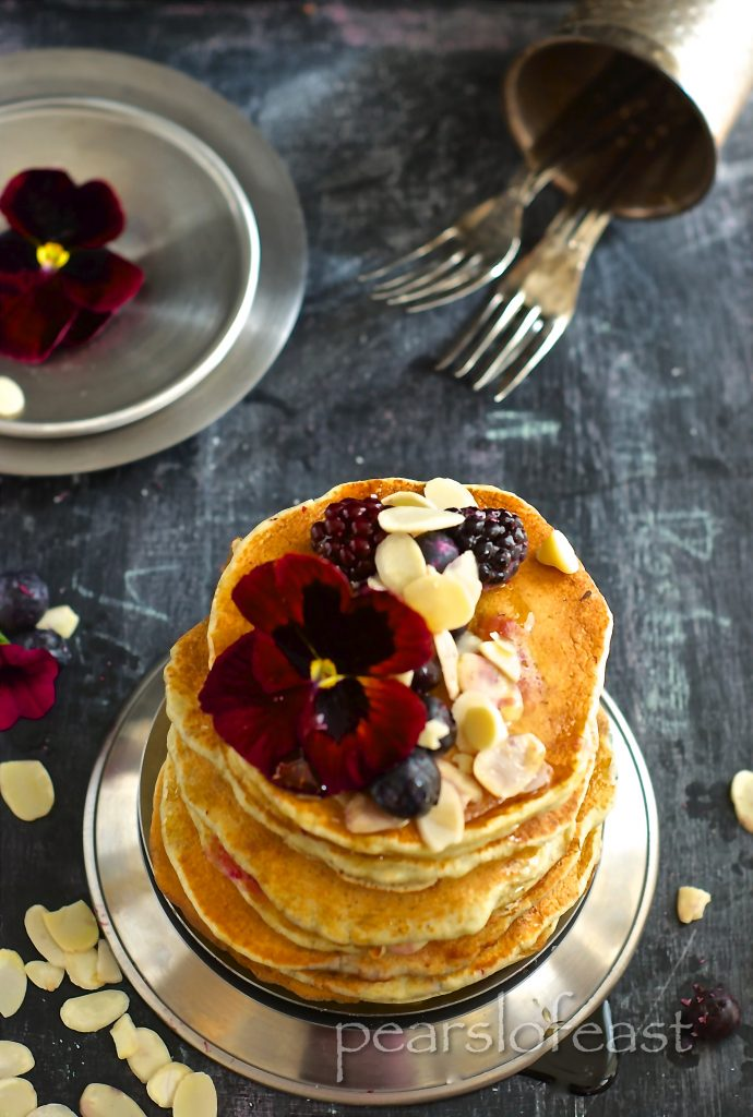 Simple Basic pancakes with white chocolate chips and berries are indeed so special and my boys love to whip them up for their Saturday morning breakfast.
