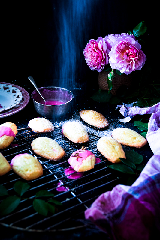 These Rose water Madeleines are perfect for coming Mother's day Treat. These are absolutely simple to make and totally irresistible.