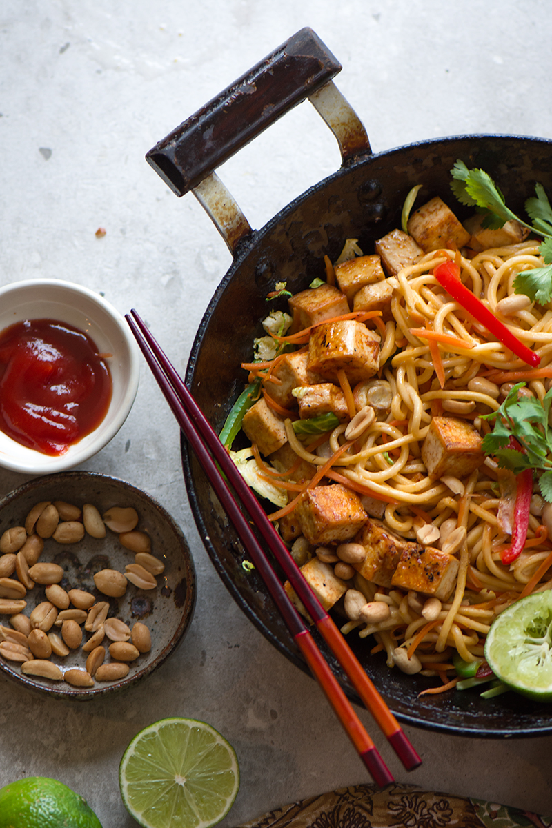 vegetable tofu noodles