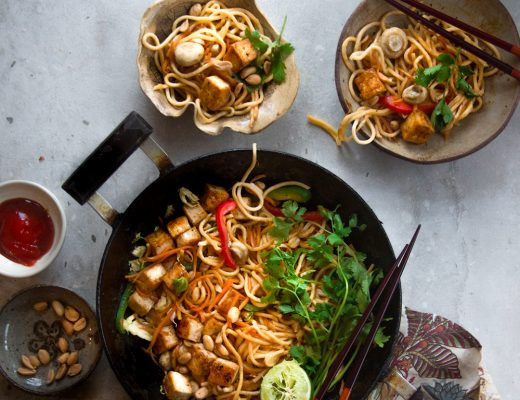 Tofu and Vegetables noodle1s