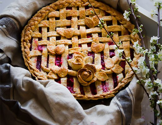 This strawberry rhubarb lattice pie is a fail proof pastry crust recipe from Donna hay with almond meal definitely makes this recipe a must try.