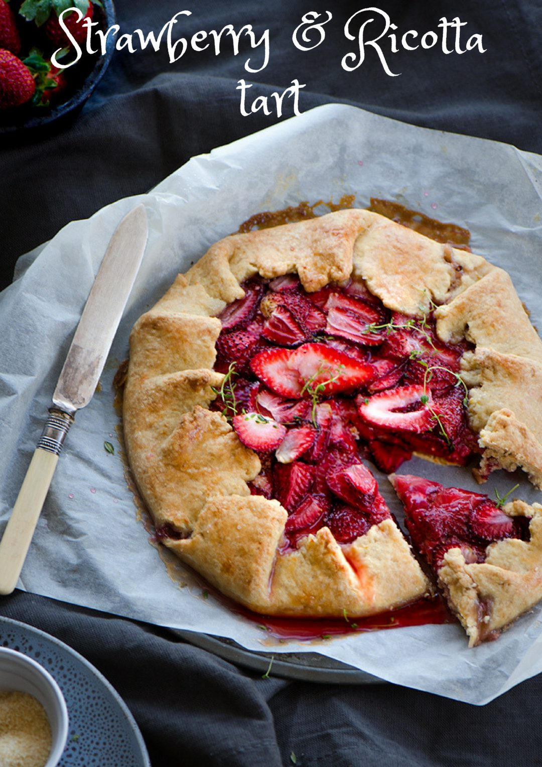 Strawberry Ricotta tart