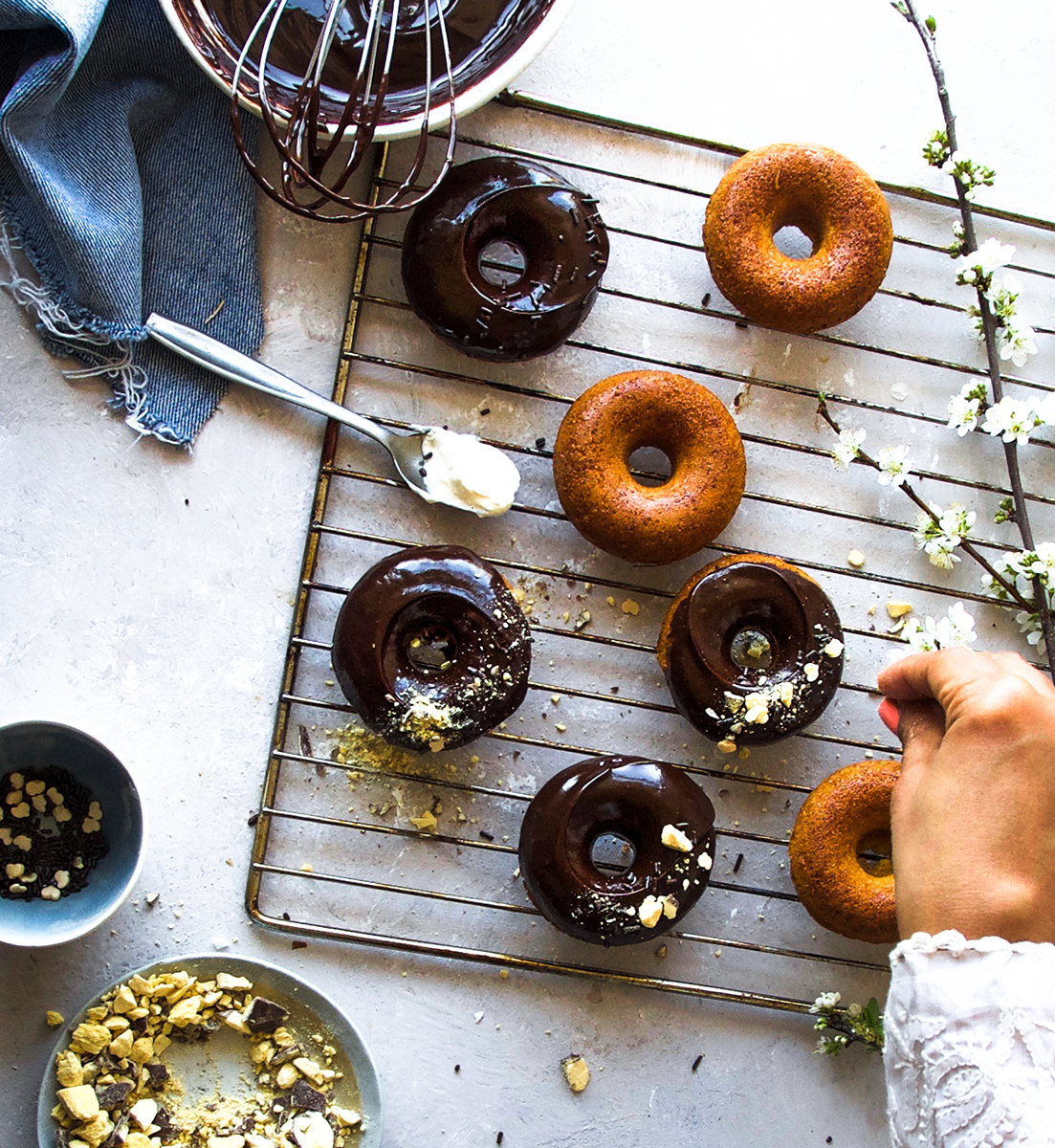 This baked spelt doughnuts were just perfect for my boys. I have used spelt flour instead of regular flour so they were bit dense but certainly tasty.