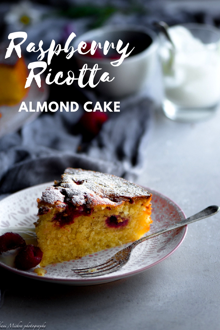 This ricotta almond raspberry cake is dense, moist is perfect for dinner parties and is suitable for freezing. Paired with Almond meal is a keepsake recipe.