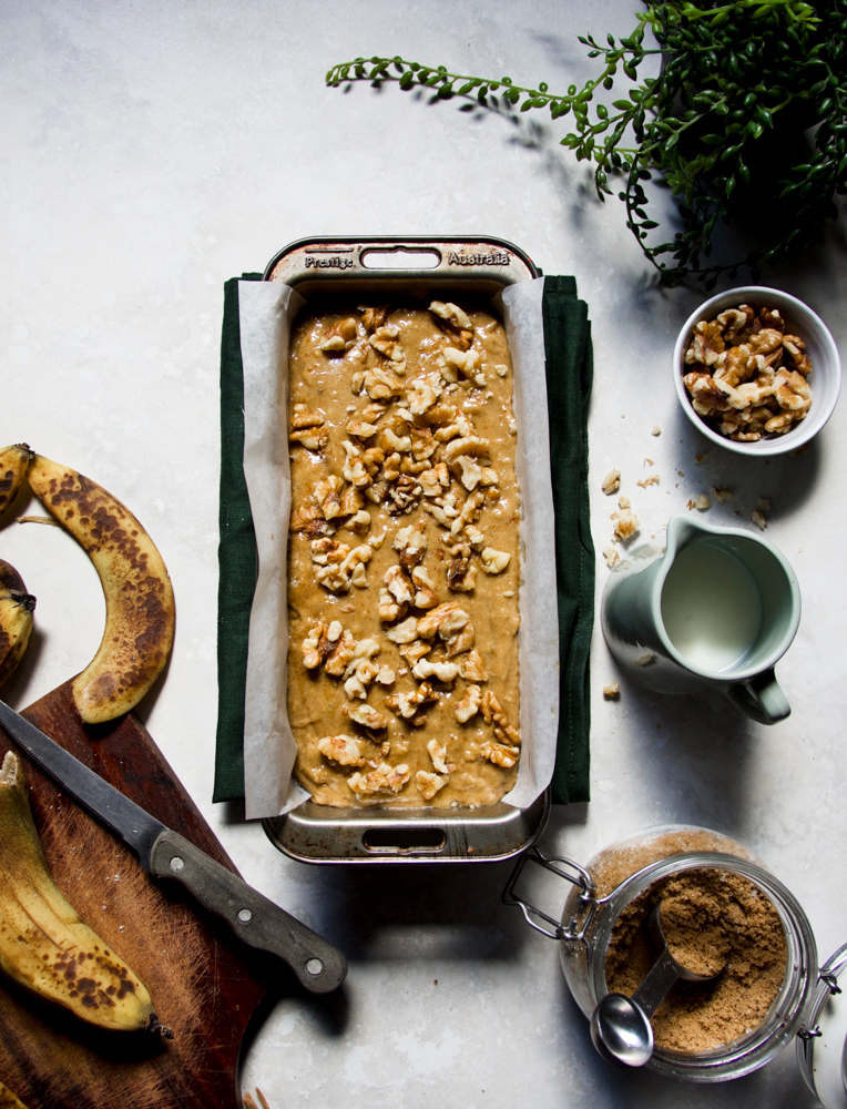 No fuss Banana date bread ( eggless)