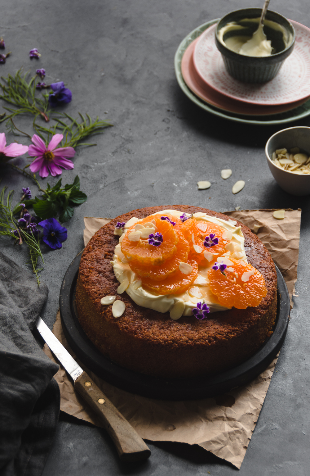 This moist mandarin almond cake is sure to impress your taste buds