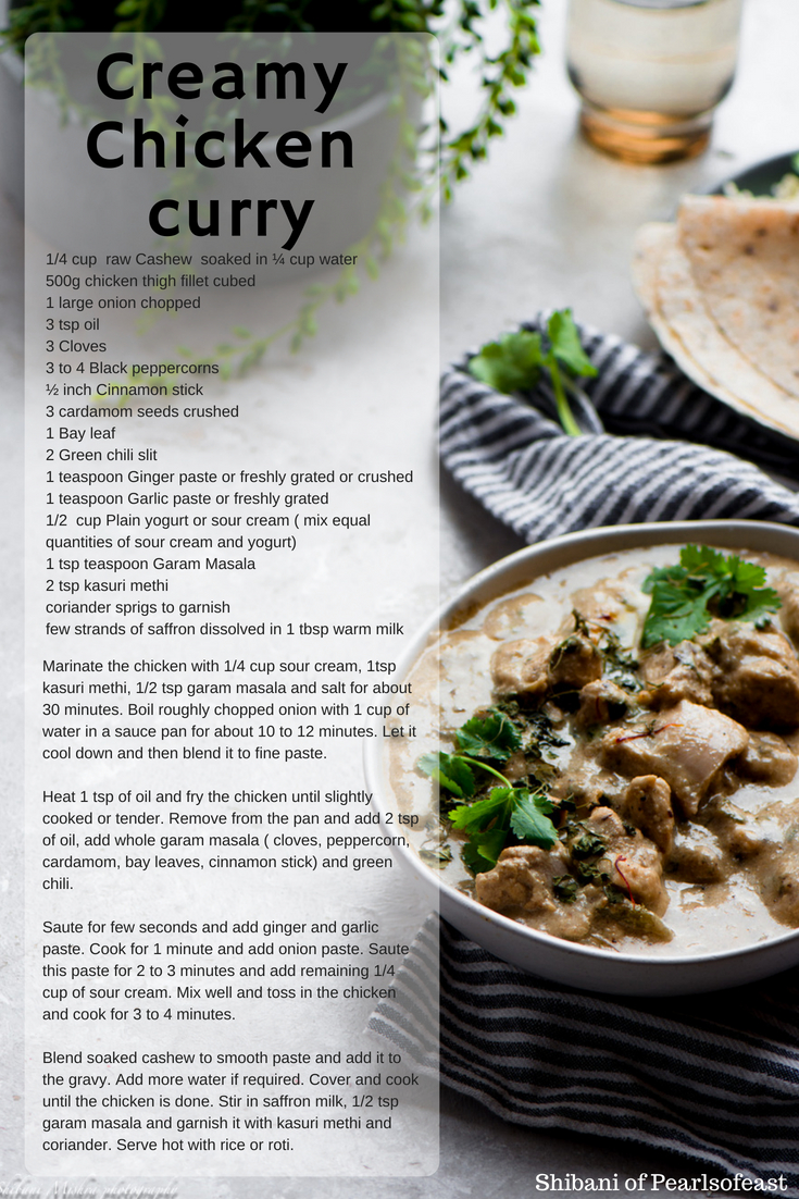 his easy chicken curry in white gravy is not only quick but also transports you to the unique experience of fine dining in your comfort zone.