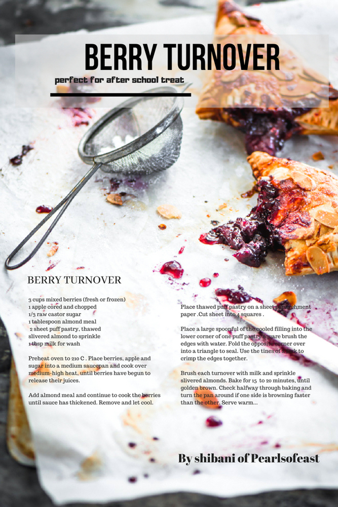 this is a gorgeous and simple treat, amazing biting the flaky pastry loaded with the goodness of luscious berries, a perfect for after school treat.