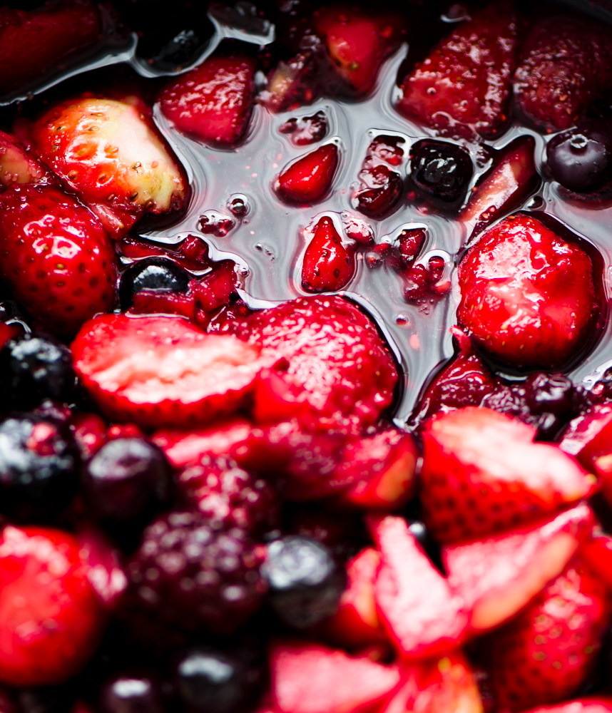 Berry compote ready for berry turnover