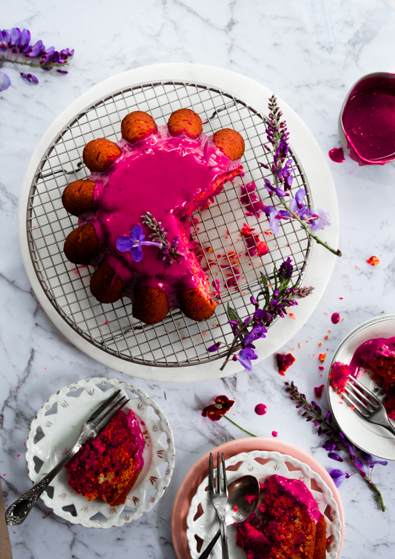 This blood orange beetroot cake will entice you for not only with its flavour and gorgeous colour too, drizzled with beetroot glaze is a crowd pleaser.