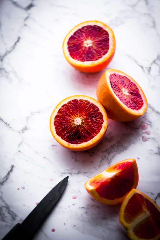 Still life photography of Blood Orange