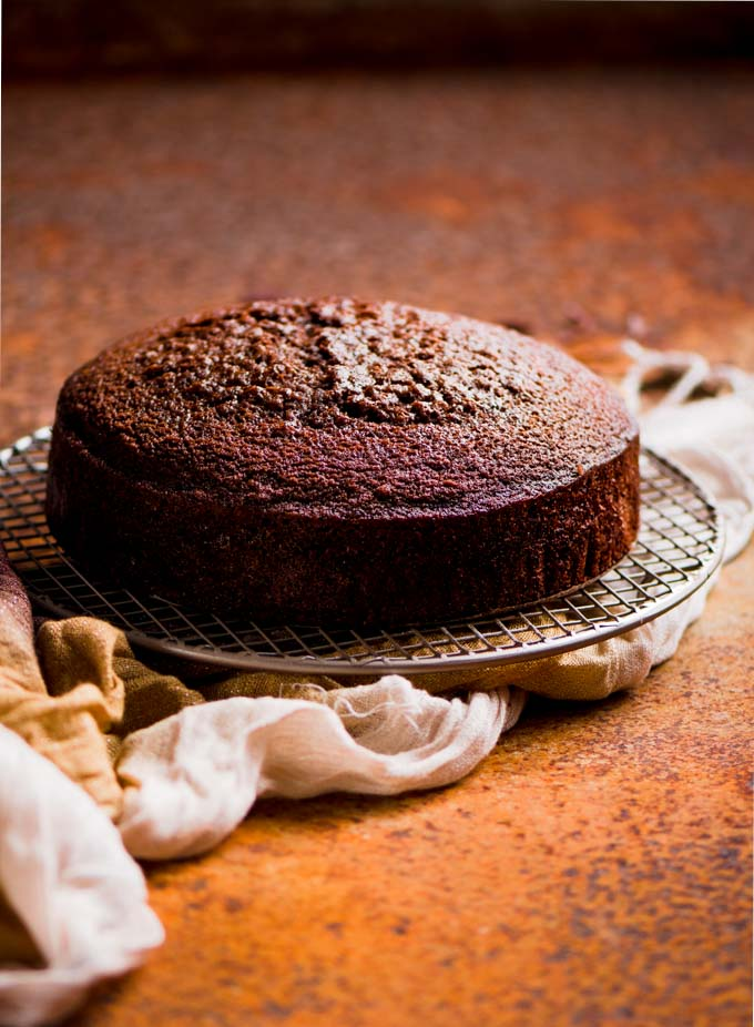 This moist simple chocolate cake is perfect for birthdays and is so easy to bake. A fail proof recipe that keeps fresh for 3 to 5 days.