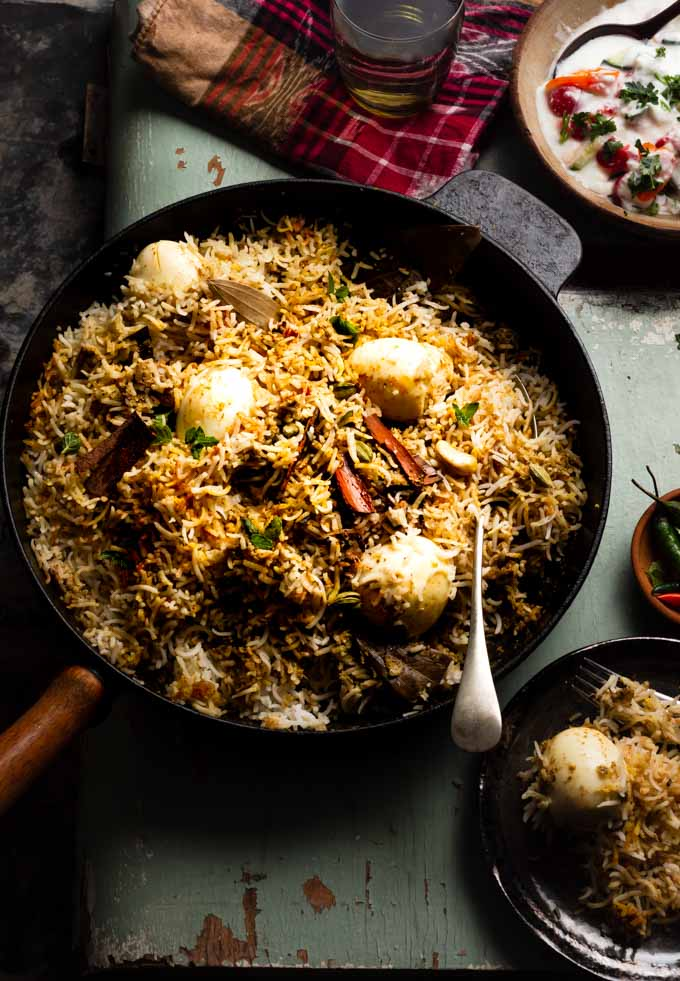 Egg biryani is one such meal that has caught my fancy lately. This dish isn't super rich but is loaded with tons of flavours that makes it utterly delicious