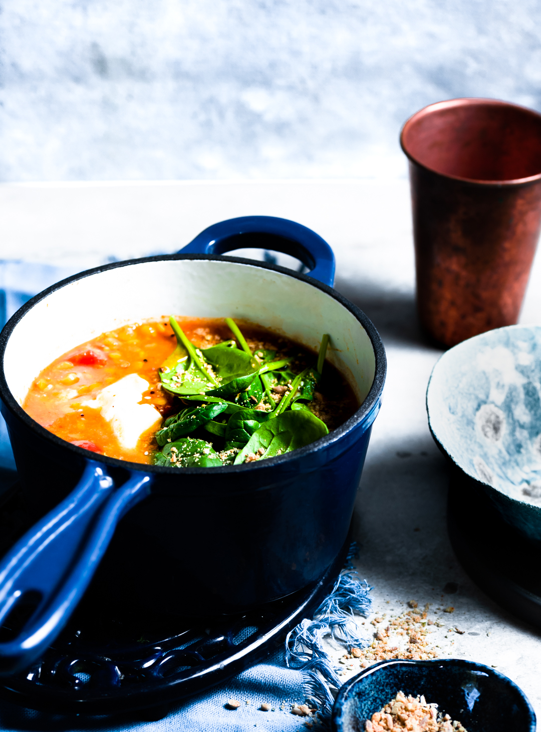 Thick chunky Dhal soup with four varieties of dhal, It's the ultimate, quick and healthy meal for a cold winter night! Seriously.