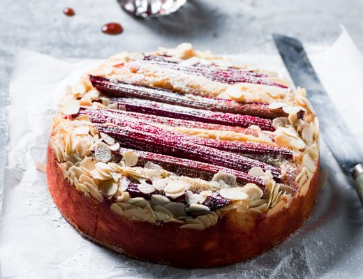 this almond rhubarb cake is not just an average cake but a cake that is moist, delicious and easy to bake too..