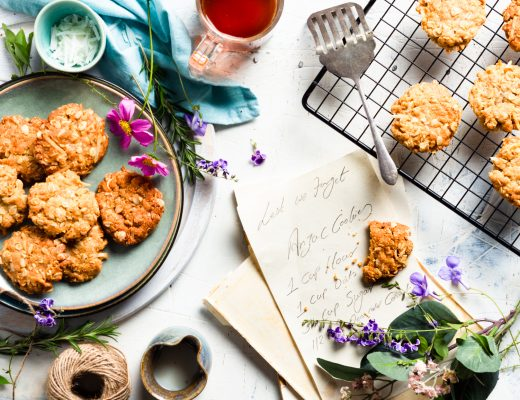anzac biscuits as know were initially made to send to the Australia and New Zealand army corps serving in Gallipoli.. this is my tried and trusted version..